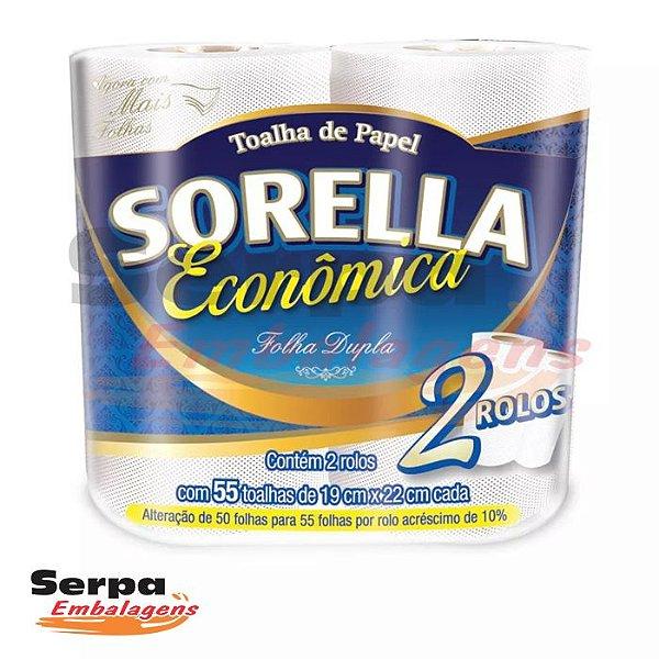 Papel Toalha Cozinha Folha Dupla ECONÔMICA SORELLA