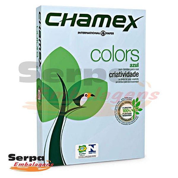 Papel A4 Sulfite 75g Azul Chamex - Resma com 500 folhas