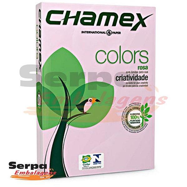 Papel A4 Sulfite 75g Rosa Chamex - Resma com 500 folhas
