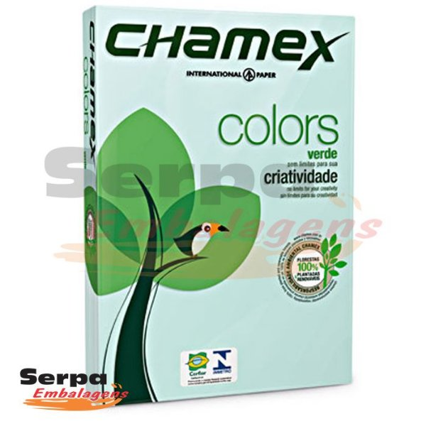 Papel A4 Sulfite 75g Verde Chamex - Resma com 500 folhas