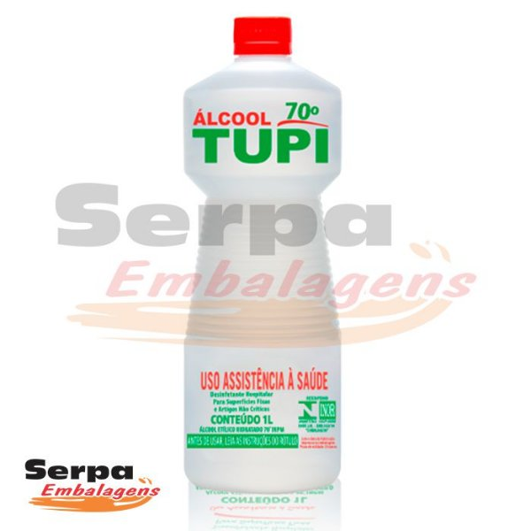 Álcool Líquido 70° INPM 1 Litro - TUPI