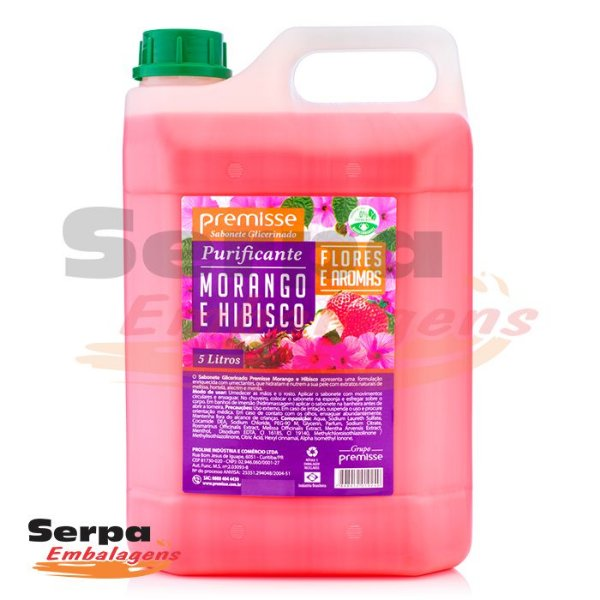 Sabonete Líquido MORANGO E HIBISCUS 5LT