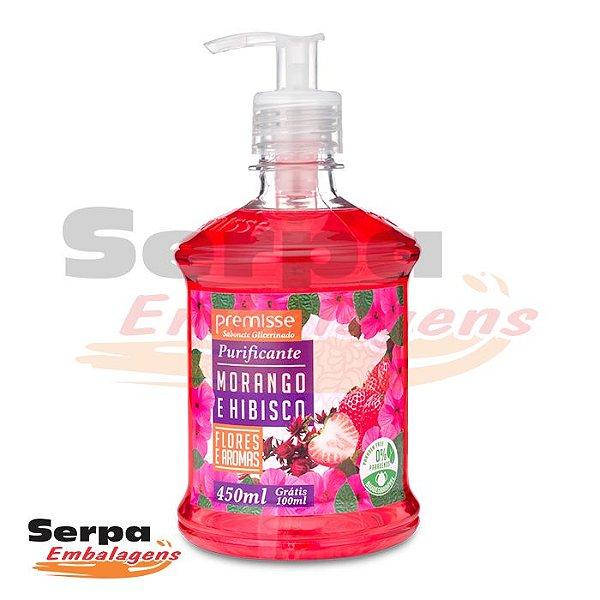 Sabonete Líquido MORANGO E HIBISCUS 450ML COM PUMP