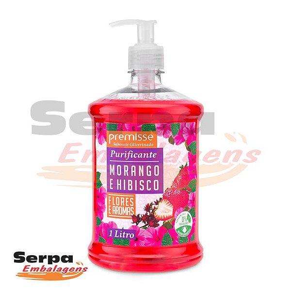 Sabonete Líquido MORANGO E HIBISCUS 1 Litro - Premisse