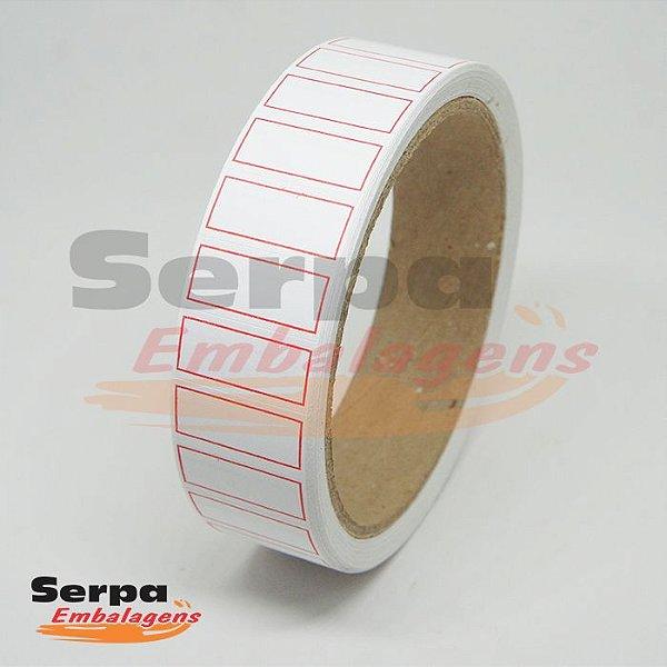 Etiqueta Adesiva Borda Vermelha 2,5 x 1,2 cm - com 1.000 unidades