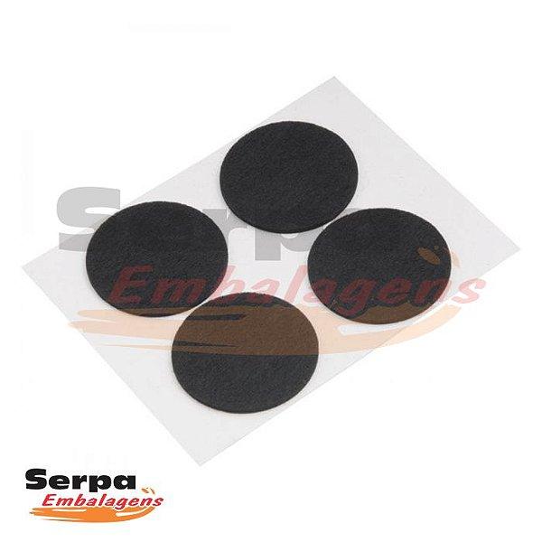 Protetor Redondo Adesivo Feltro 25mm com 12 pcs