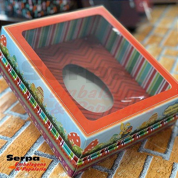 Caixa de Ovo de Colher Decorada Laranja 350g