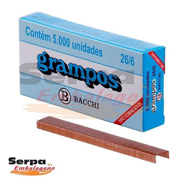 Grampo 26/6 Cobreado com 5000 unidades BACCHI