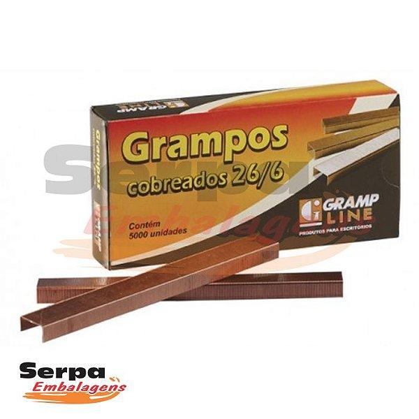 Grampo 26/6 Cobreado com 5000 unidades - Gramp Line
