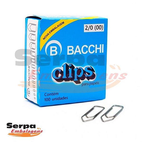 Clips 2/0 Galvanizado com 100 Unidades Bacchi