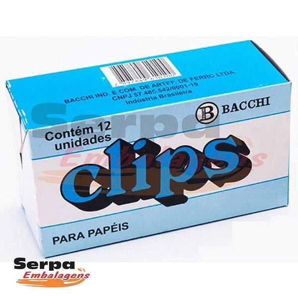 Clips 12/0 Galvanizado com 12 Unidades Bacchi