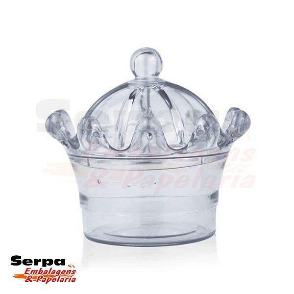 Caixinha Acrílica Coroa Cristal 7 x 8 cm - DREX