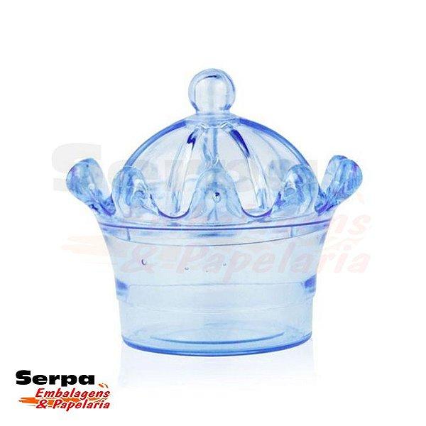 Caixinha Acrílica Coroa Azul 7 x 8 cm - DREX