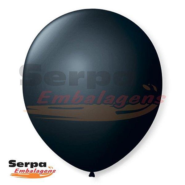 Balão n°7 Preto Ebano - Pacote com 50 unidades