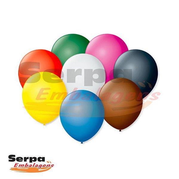 Balão n°7 Cores Sortidas - Pacote com 50 unidades