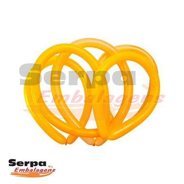 Balão Canudo 260 Amarelo Citrino - Fácil Modelagem - Pacote com 50 unidades