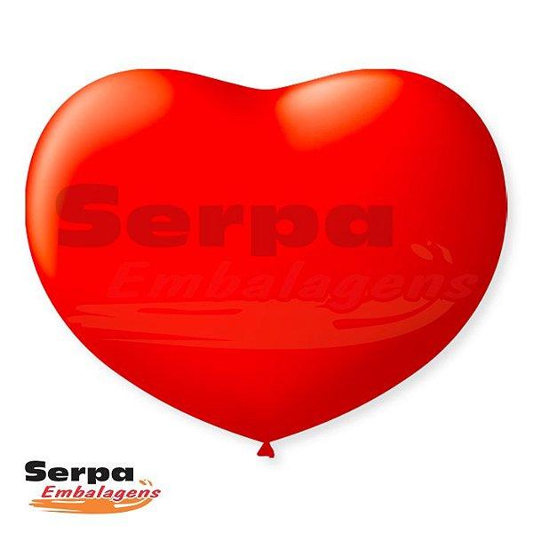Balão n°11 Coração Vermelho - Pacote com 20 unidades