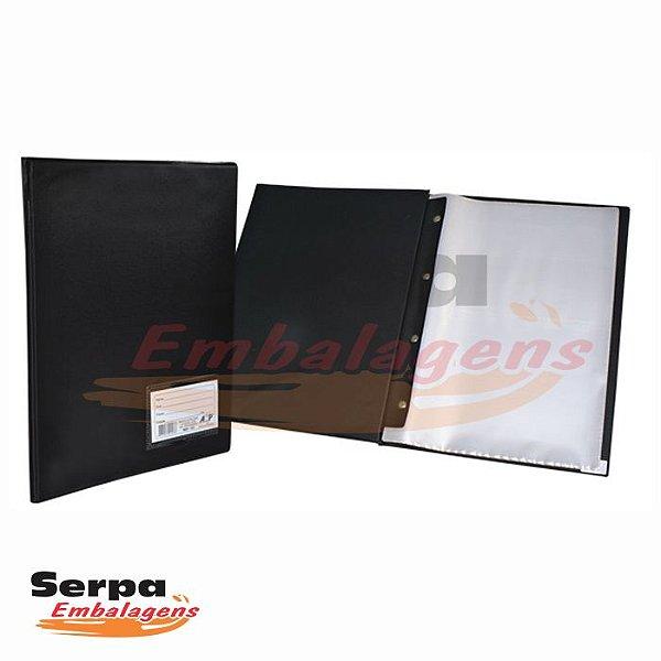 Pasta Catálogo 50 Envelopes Plásticos