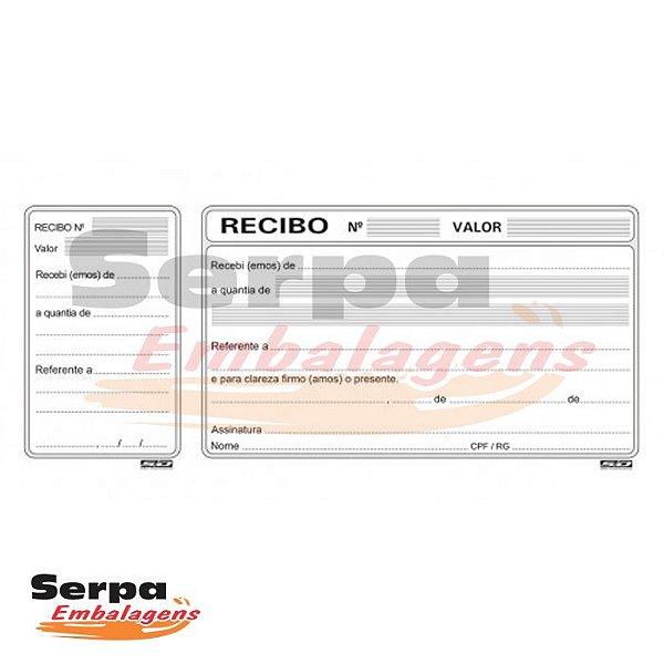Bloco de Recibo Comercial com Canhoto com 50 folhas - 200x91mm
