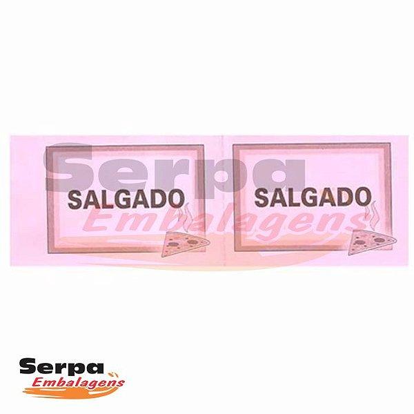 Ticket de Salgado com 100 unidades - 152x53mm