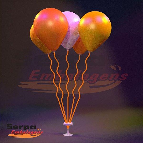 Suporte para Balão MINI ESPIRAL LARANJA NEON