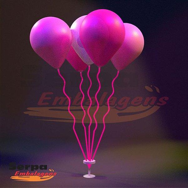 Suporte para Balão MINI ESPIRAL ROSA NEON