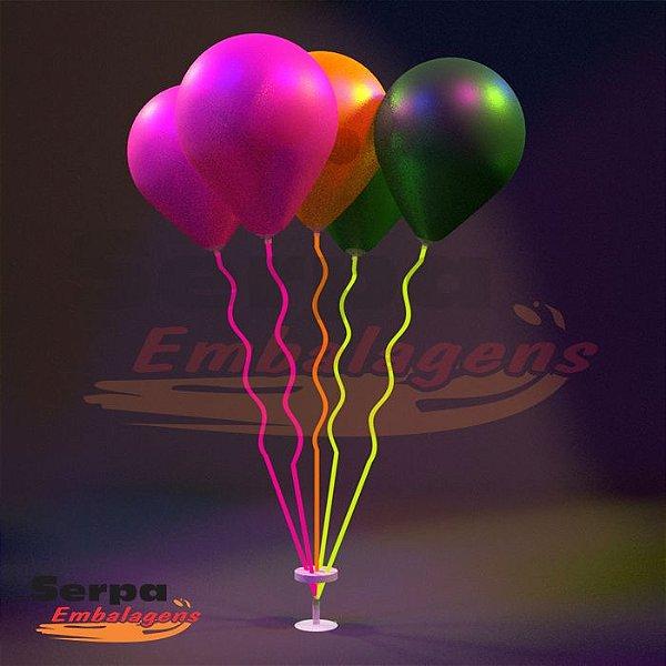 Suporte para Balão MINI ESPIRAL COLORIDO NEON