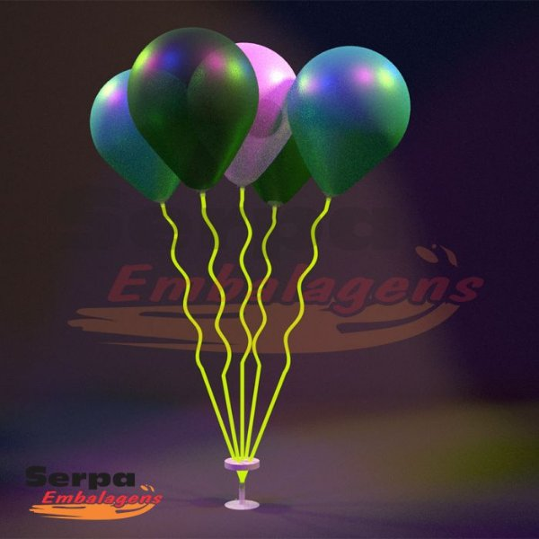 Suporte para Balão MINI ESPIRAL VERDE NEON