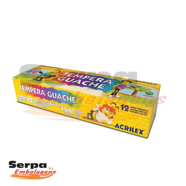 Tempera Guache 15ml - 12 CORES
