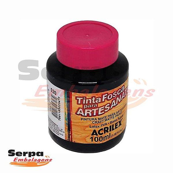 Tinta Fosca para Artesanato 100ml - PRETA