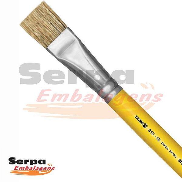 Pincel Sintético para Artesanato Chato 815 N.18 Amarelo