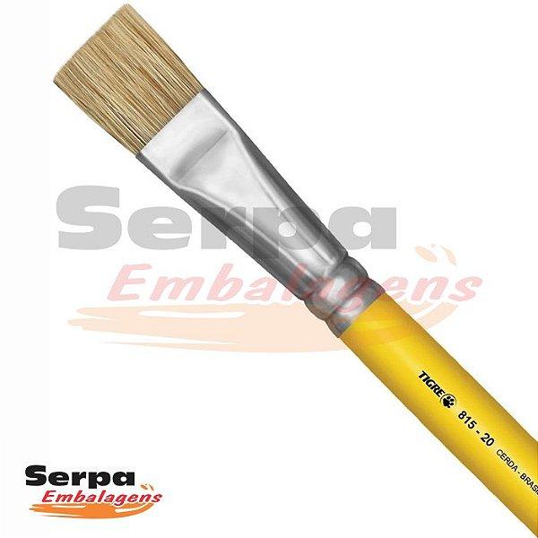 Pincel Sintético para Artesanato Chato 815 N.20 Amarelo