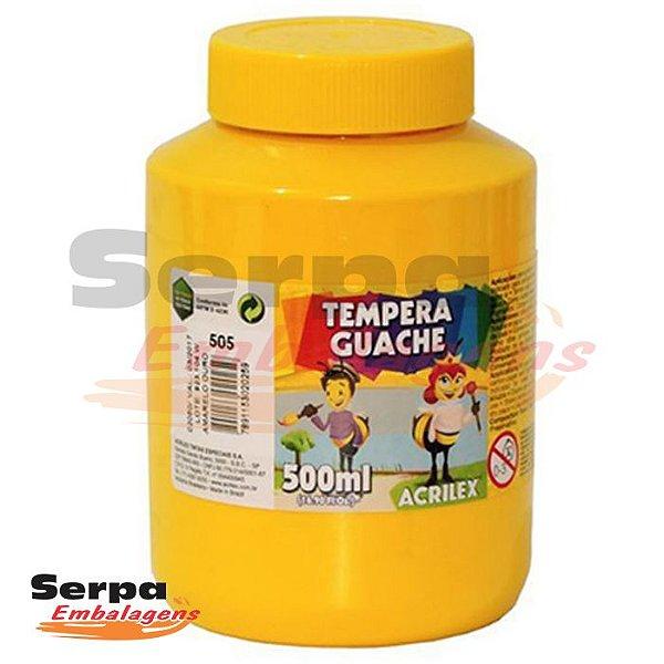 Tinta Guache 500ml Amarelo Ouro