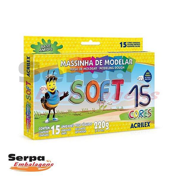 MASSINHA DE MODELAR SOFT - Caixa com 15 unidades