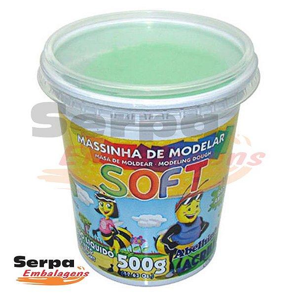Massinha de Modelar Soft - 500gr Verde