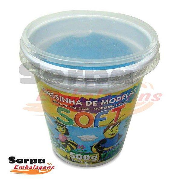 Massinha de Modelar Soft - 500gr Azul