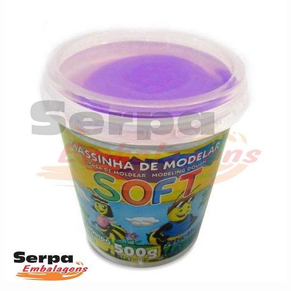 Massinha de Modelar Soft - 500gr Violeta