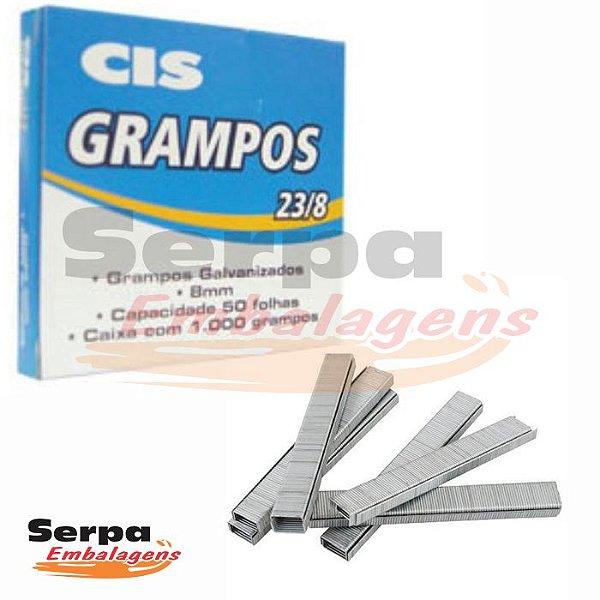 Grampo 23/8 Galvanizado com 1.000 unidades - CIS