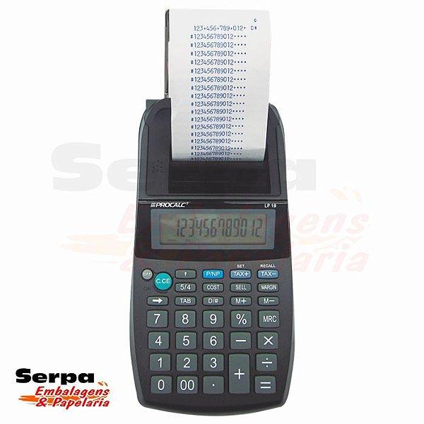 Calculadora de Impressão com 12 Dígitos LP18 - COM ADAPTADOR - PROCALC