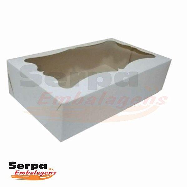 Caixa com Visor - 25,5 x 15,5 x 4,5 cm - Branca