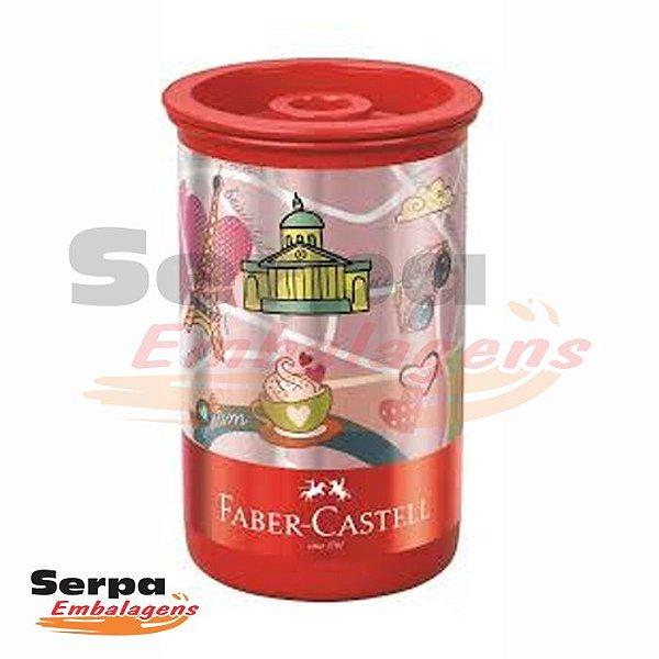 Apontador com Depósito Tubo Let's Go Tubo - Faber-Castell