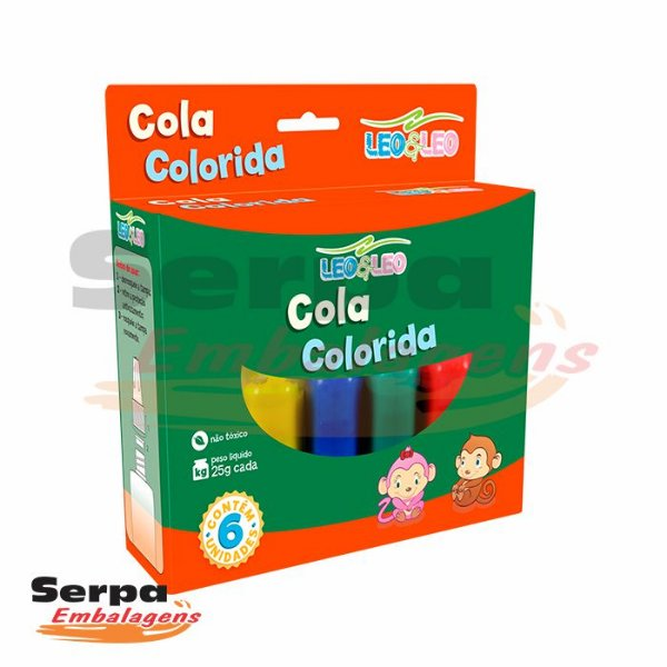 Cola Colorida 6 cores