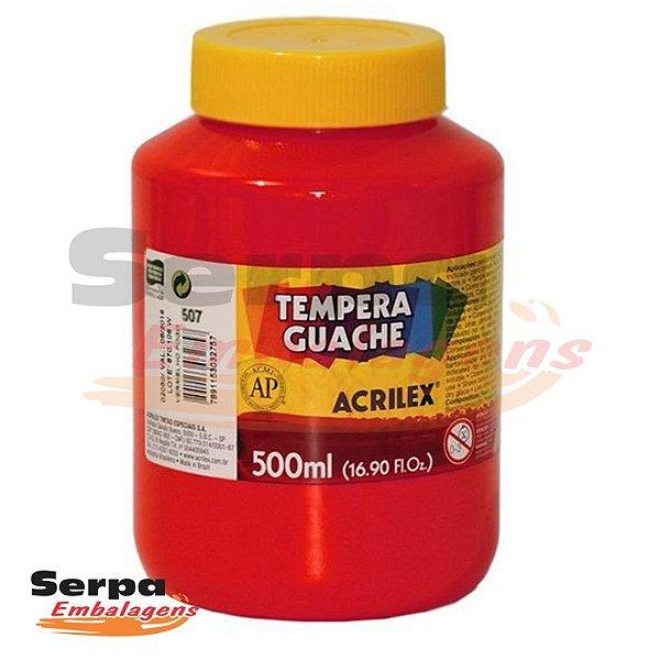 Tinta Guache 500ml Vermelho Fogo