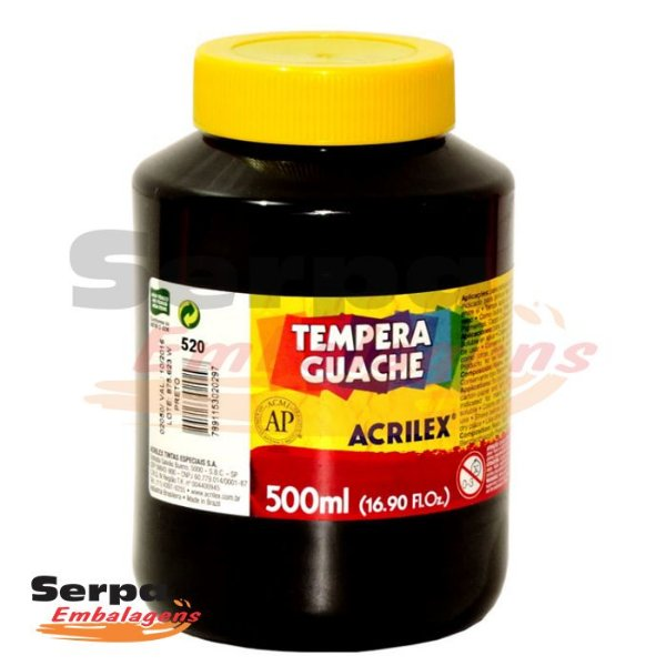 Tinta Guache 500ml Preto