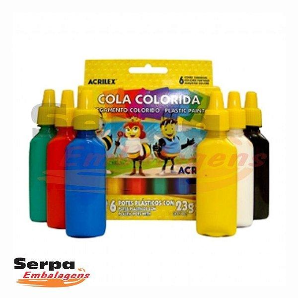 COLA COLORIDA 6 CORES 23G