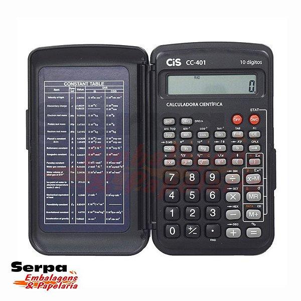 Calculadora Científica Cc-401 Com Capa - 10 Dígitos - Cis