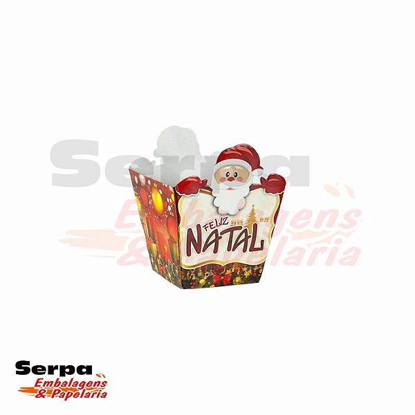 Mini cachepô decorado de Natal 9cm x 9cm x 8,5cm