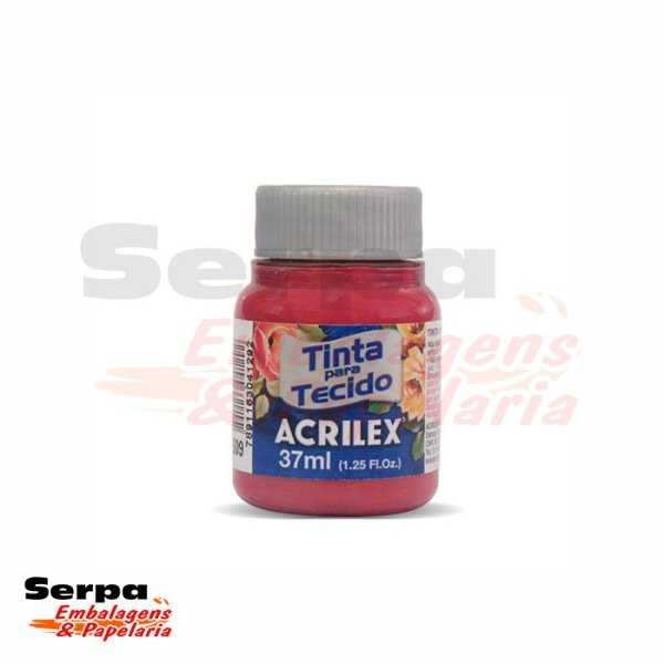 Tinta para Tecido Fosca 37ml Fosca - VERMELHO CARMIN