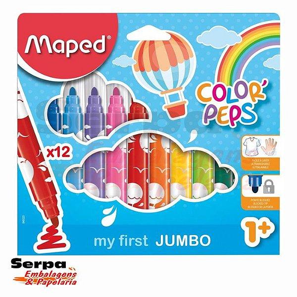 Caneta Hidrográfica Color Peps JUMBO com 12 unidades