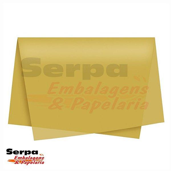 Papel Seda Ouro 48x60 cm - Pacote com 20 unidades
